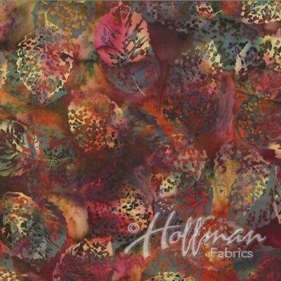 Hoffman Batiks Fabric - Bali Batik - #Q2133-428 Mulberry Leaves ()