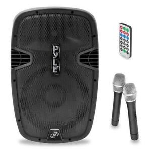 PylePro PPHP159WMU 15 1600w Bluetooth Music Streaming Portable Loudspeaker System - Built-in Rechargeable Battery