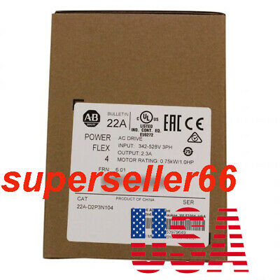 Ab Allen-bradley Powerflex 4 480v Ac Drive 0.75 Kw 1 Hp 22a-d2p3n104 Series A