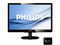 "New 19.5"" Philips LED Monitor - Black - Boxed"