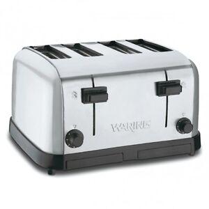 Waring WCT708 Commercial Medium Duty 4-Slot Toaster 1 Year Warranty Genuine 120v