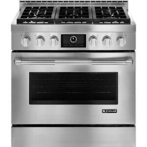 Jenn air JGRP436WP Pro-Style 36 Gas Range with MultiMode Convection