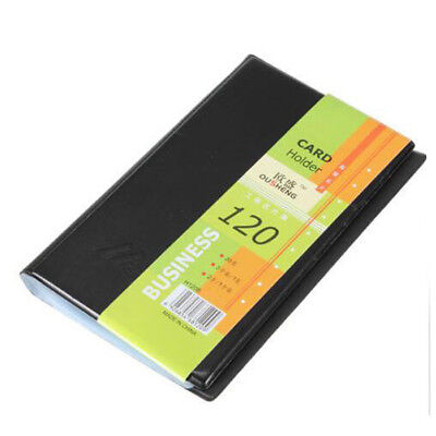 Leather 120 Cards Business Name Id Credit Card Book Case Keeper Holder Office