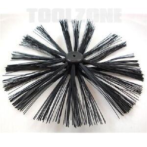 400mm chimney sweep sweeping brush for drain rods flue. Black Bedroom Furniture Sets. Home Design Ideas