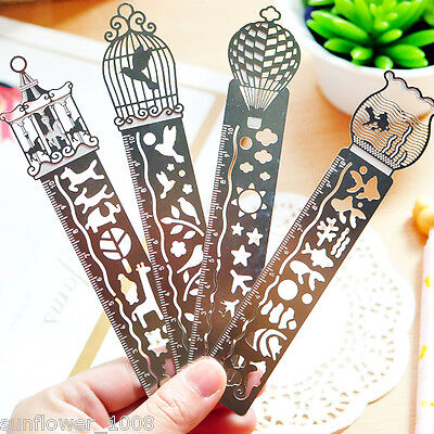 1pc Paper Clips Ruler Shaped Metal Bookmarks Cute Bookmarks Reading Mark - Shaped Paper Clips