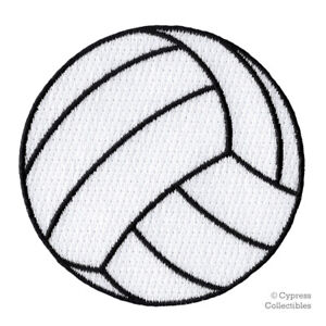 EMBROIDERED VOLLEYBALL PATCH - new IRON-ON APPLIQUE SPORTS BEACH VOLLEY BALL