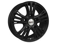 """18"""" Calibre Odyssey Alloy Wheels and Tyres. Ford Transit (5x160) Matt Black Load Rated"""