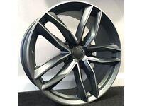 """19"""" Audi RS6C style alloy Wheels & Tyres - Audi A3, A4 VW MK5,6,7, Golf, Caddy, Jetta, Passat, Seat"""