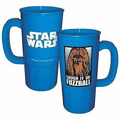Star Wars Chewbacca Image Laugh It Up, Fuzzball 22 oz Plastic Stein NEW UNUSED