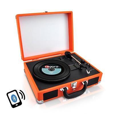 Pyle Pvttbt6or Bluetooth Classic Vintage Style Vinyl Reco...