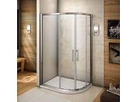 NEW 900x800mm Quadrant Shower Enclosure Walk In Cubicle Glass Door