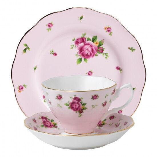Royal Albert New Country Roses Pink Vintage 3 Piece Tea Set - RRP $159.00