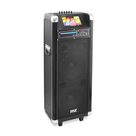 "Pyle PKRK212 Karaoke Vibe Bluetooth Multimedia PA System, 7"" Screen, DVD Player"