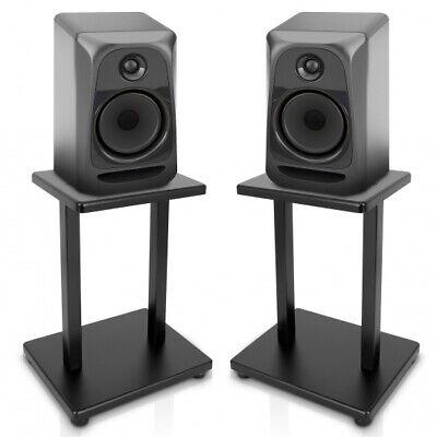 PYLE PSTND18 Home Studios Set of 2 Speaker Stands Bookshelf Monitor Black ()