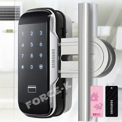 SAMSUNG Glass Door SHS-G510 Smart Digital Lock Keyless Entry Passcode+RFID 2Way