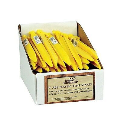 Texsport 14973PDQ Tent Stake Plastic 9 in. 50 Pack
