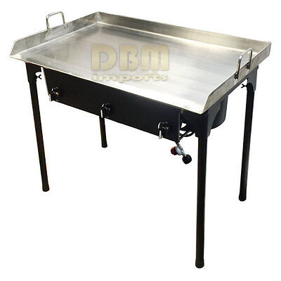 """36"""" x 22"""" Propane Triple Burner Stove Stainless Steel Griddle Flat Top Grill"""