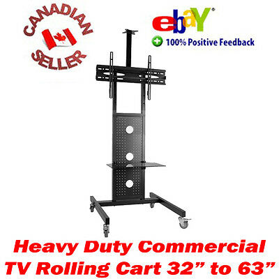 """TV mobile rolling cart stand 32"""" - 63"""" LED 3D LCD PLASMA 37 40 42 47 50 52 55 60"""