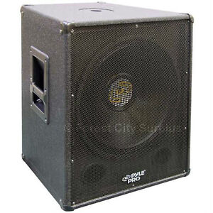 PYLE PRO® PASW18 500 WATT RMS 18-INCH PORTED SUBWOOFERS BUILT-IN