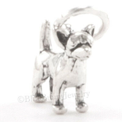 - Tiny 3D CHIHUAHUA Dog Bracelet Charm Pendant 925 STERLING SILVER Very Small Mini