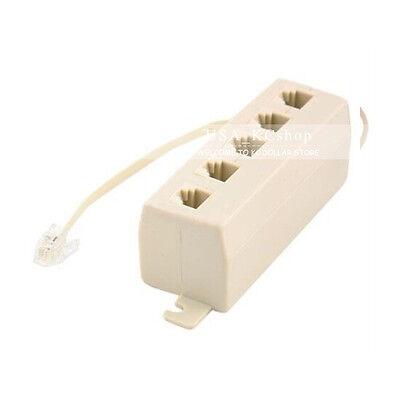 New 5 Way RJ11 Telephone Modular Phone Line Outlet Jack Socket Splitter Adapter