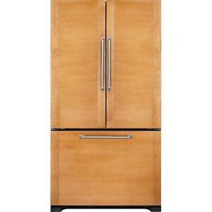 36-inch Custom panels Refrigerator, French doors, Jenn-Air