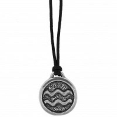 New Zodiac Astrology Symbol Signs Horoscope Pewter Pendant   Choose Your Sign