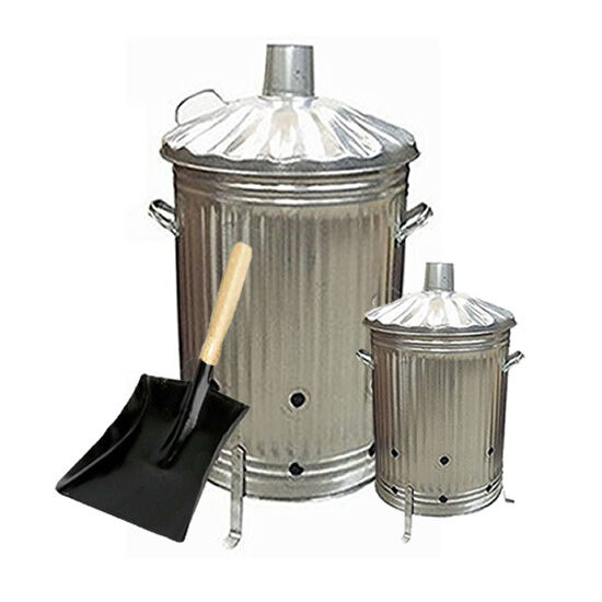 INCINERATOR GARDEN WASTE  WOOD LEAVES BURNER FIRE BIN PAPER 15L 90L LITRE