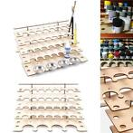 32 Pots Wooden Acrylic Paint Stand Bottle Storage Rack Ho...