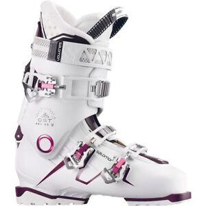Ski Boots Sale >> Salomon Quest Pro 80w Ski Boots In White Burgundy 25 5