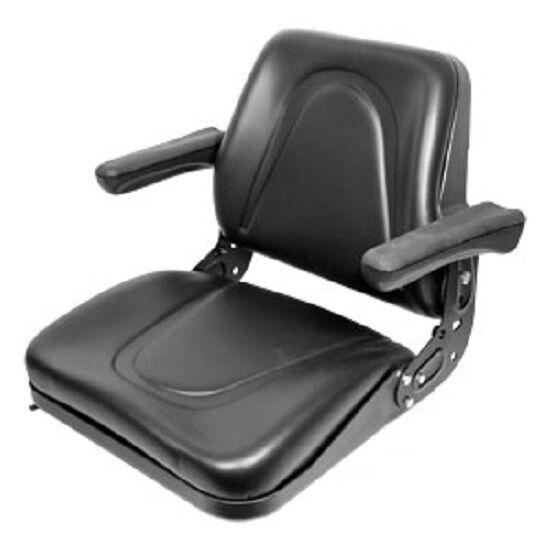 Universal T500BL Tractor Seat w/Slide Tracks for Kubota Bobcat John Deere Ford