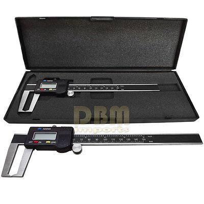 "Digital 6"" Outside Groove Vernier Caliper Ruler Micrometer Gauge Indicator"