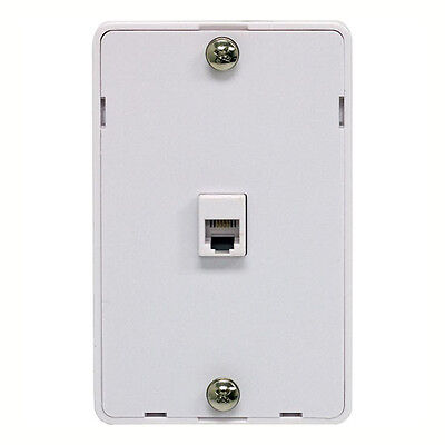 Eagle Phone Jack Wall Plate Modular White Surface Mount 4 Wire RJ11 Telephone