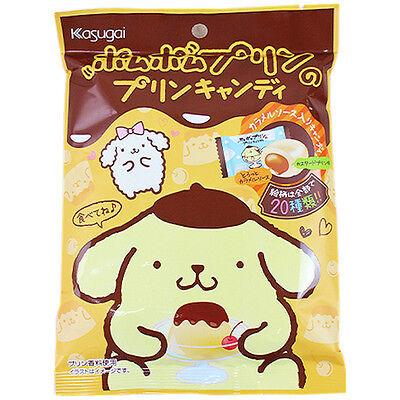 Japanese Hard Candy Pom Pom Purin Custard pudding taste Candy with Caramel sauce