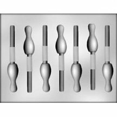 Bowling Pin Chocolate Sucker Candy  Mold  Team Sports Strike Party Child - Chocolate Suckers