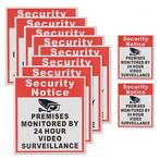 10Pcs Camera Video Surveillance Sign Sticker Security Not...