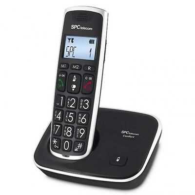 SPC Comfort Kiser Teléfono fijo inalámbrico sin cables teclas grandes agenda