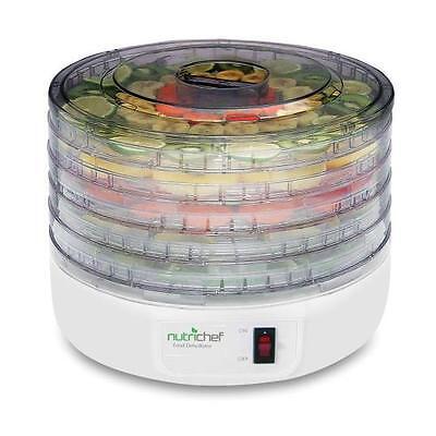 Nutrichef PKFD12 Electric Countertop Food Jerky Dehydrator Preserver Maker