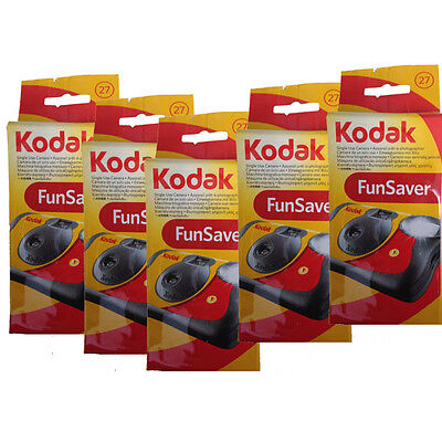5 Pcs Kodak 35mm Funsaver Flash 800 asa One Time Use Disposable Camera 5/2019
