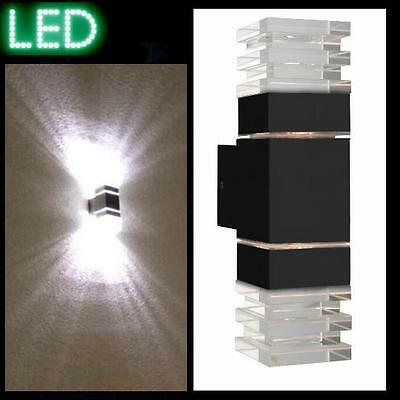 Außenleuchte L7 anthrazit LED Wandleuchte Fassade Strahler Lampe Haus Spot Glas