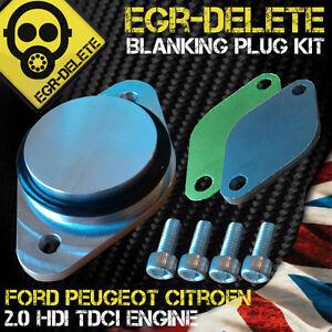PEUGEOT EGR blanking plate kit 2.0 16V HDI 307 308 407 607 807 3008 5008 Expert