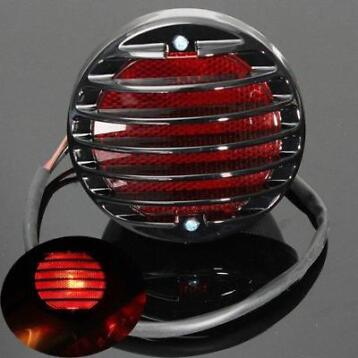 Motor Staart Rem Red License Plate Light Voor Harley Bobb...