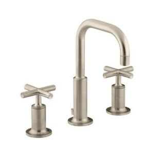 Kohler 14406-3-BV Purist Widespread Lavatory Faucet With Low Goo