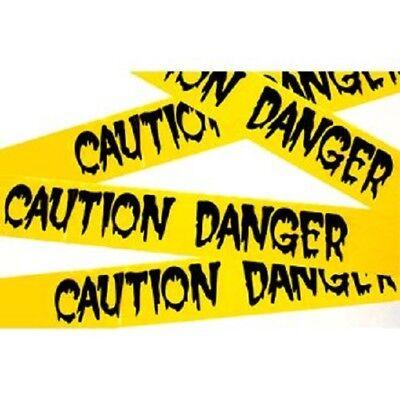 Halloween Fright Danger Caution Tape 20ft Plastic Decoration Indoor/Outdoor  BH