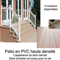 Patio  de PVC decking - Planchers Artz Renovation Vaudreuil