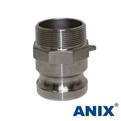 1-14 Inch Cam Lock Fitting Type F Male Adapter X Male Npt Stainless Steel