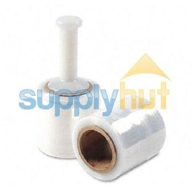 3 In. X 1000ft 80 Gauge 18 Rolls Stretch Shrink Film Hand Wrap Handle