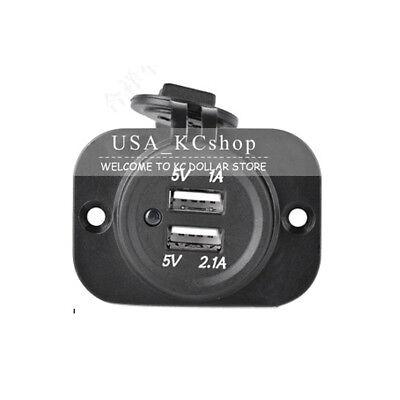 New Dual USB harbour Car Charger Cigarette Lighter Socket for iPhone 6 Plug Outlet