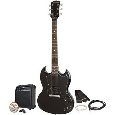 Black Electric Guitar Kit Double Cutaway Maestro by Gibson Amp Picks DVD & More