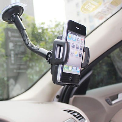 Car Windshield Rotating Mount Holder - iPhone iPod Galaxy Smart Cell Phone GPS